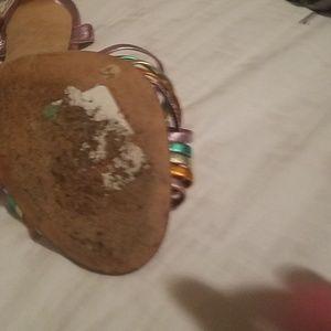 SJP by Sarah Jessica Parker Shoes - SJP metallic Maud sandals